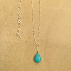 Jewelry - Howlite blue pendant on silver chain